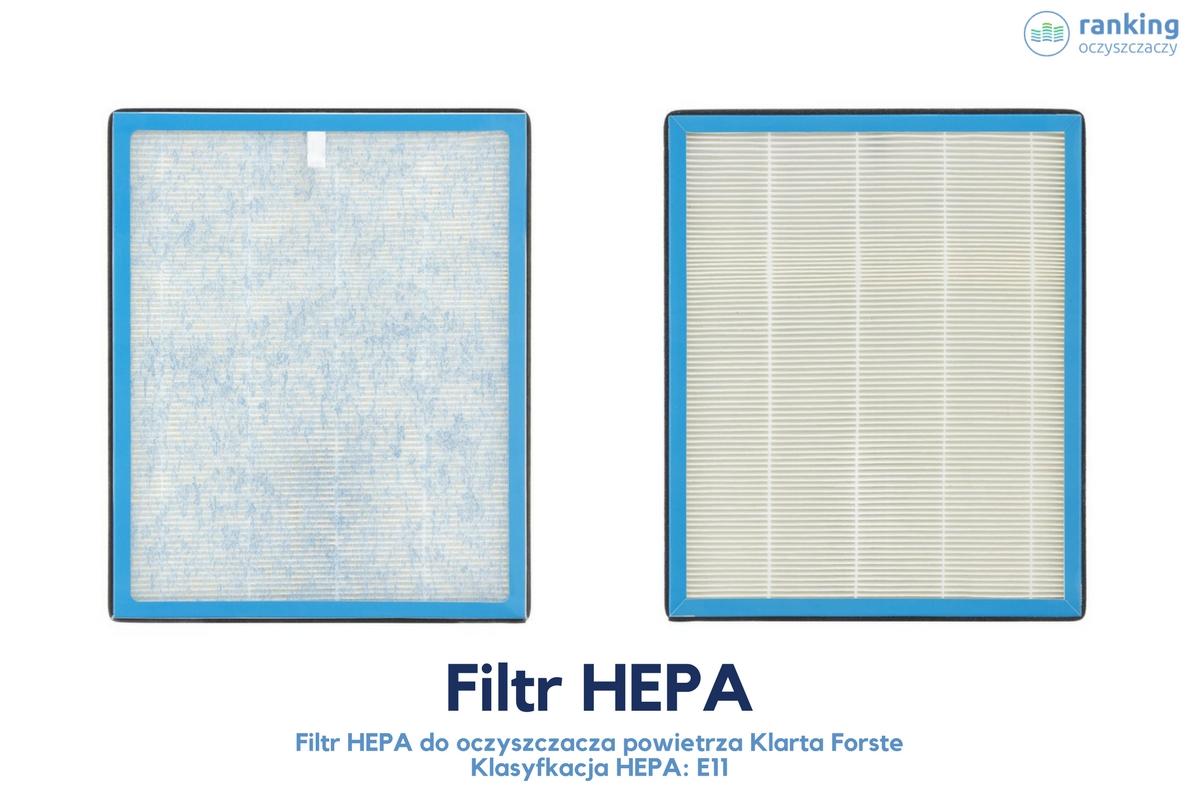 dwa filtry hepa klasy e11