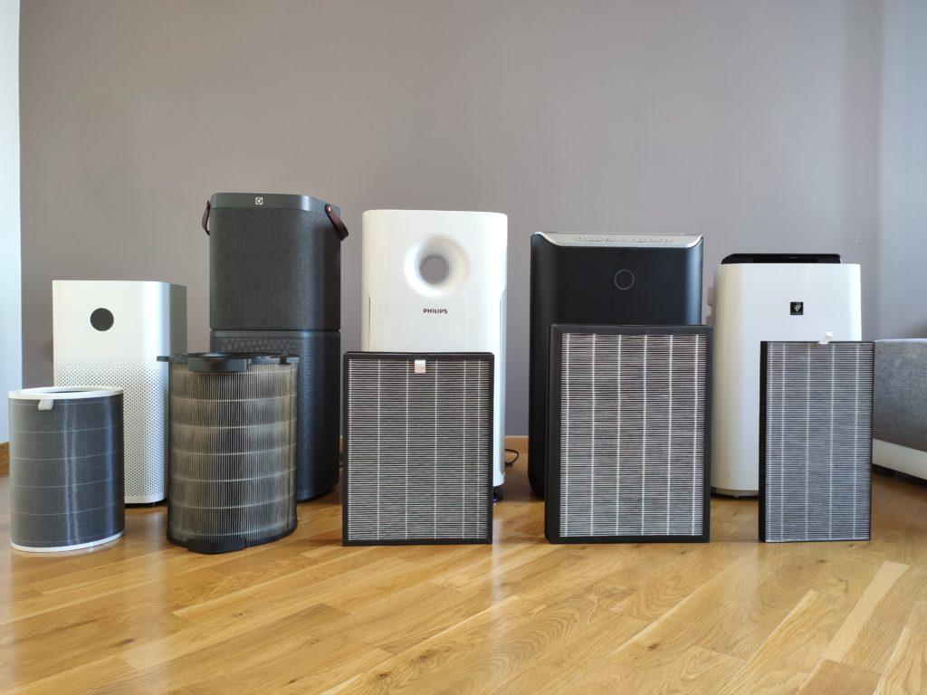 oczyszczacze powietrza zastosowane filtry