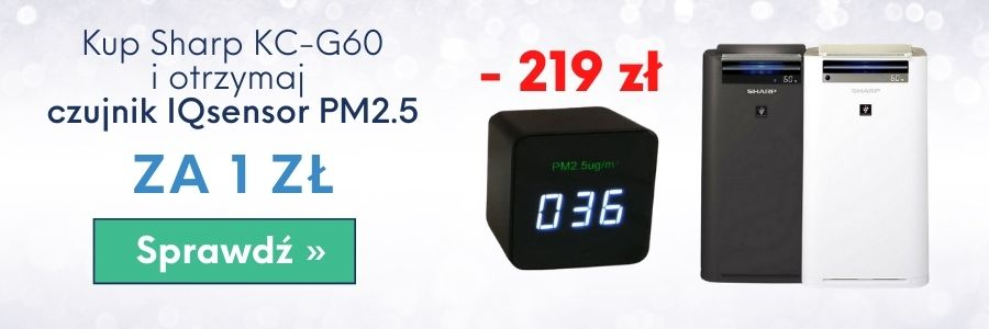 Promocja - kup Sharp KC-g60 i otrzymaj czujnik smogu IQsensor PM2.5 za 1 zł