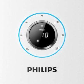 Numeryczny wyświetlacz pyłu PM2,5 oczyszczacza Philips z ikonami