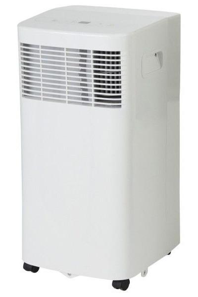 Klimatyzator przenośny z Castoramy 5 kBTU na białym tle.