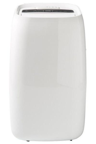 Klimatyzator przenośny z Castoramy Blyss 9 kBTU na białym tle.