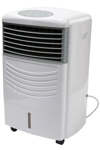 Klimatyzer z Castoramy widoczny pod kątem 45 st., na białym tle.
