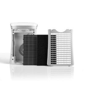 3 filtry i tył oczyszczacza powietrza Sharp UA-PF40E