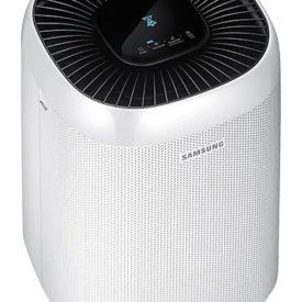 Oczyszczacz powietrza Samsung AX34R3020WW, widoczny pod kątem 45 stopni.