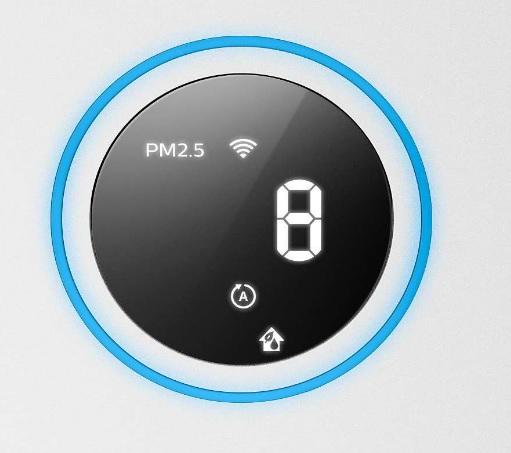 Wskaźnik jakości powietrza w oczyszczaczu Philips AC2729/50.