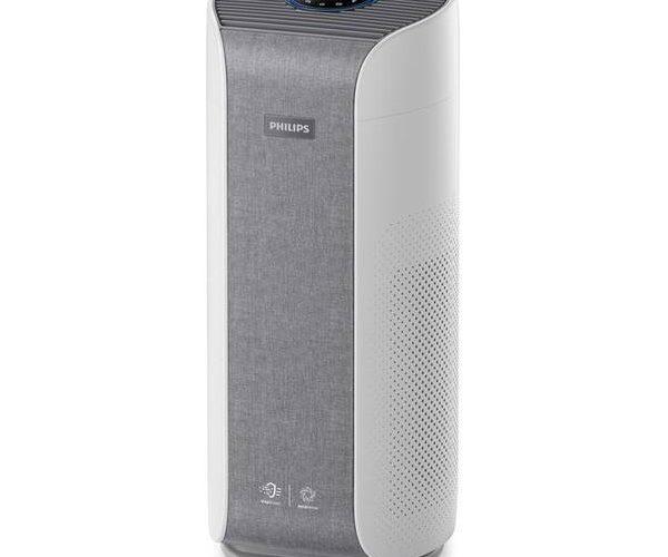 Oczyszczacz powietrza Philips AC3858/50 na białym tle.