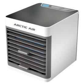 Klimatyzer powietrza Rovus Arctic Air Ultra na białym tle.