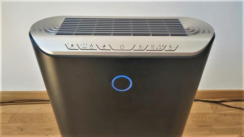 Klarta Stor panel sterowania i kolorowy wskaźnik jakości powietrza