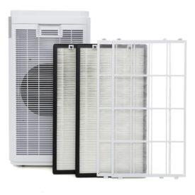 Oczyszczacz powietrza Welltec APH1000D razem z filtrami.