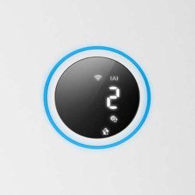 Czarny wyświetlacz oczyszczacza Philips z symbolami