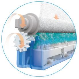 Rolka do oczyszczania filtra wstępnego w oczyszczaczu powietrza