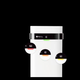 Ikony zmiany jakości powietrza w oczyszczaczu Airdog X5
