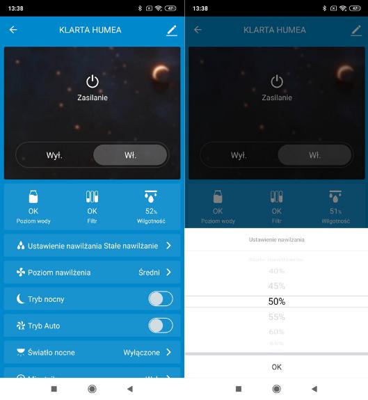 Aplikacja Smart Life do nawilżacza Klarta Humea