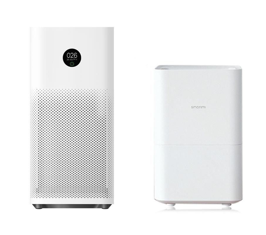 Oczyszczacz powietrza Xiaomi Air Purifier 3 i nawilzacz powietrza Xiaomi Pure Evaporative 4L
