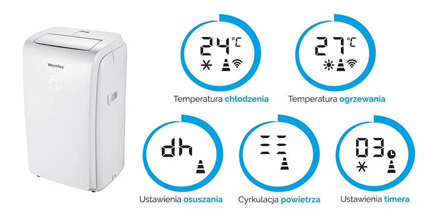 Wyświetlacz klimatyzatora Warmtec Senja KP32W