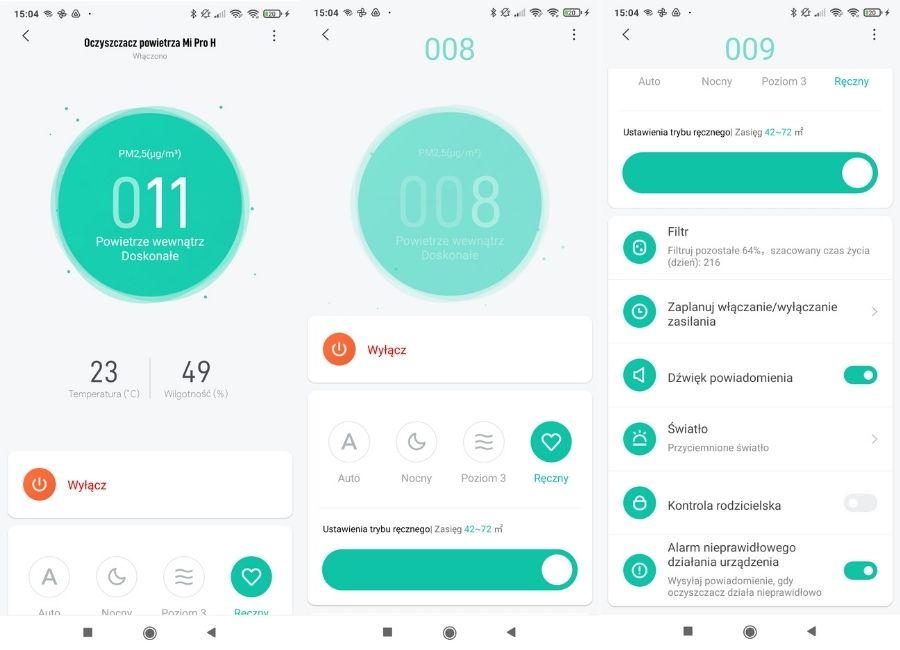 Aplikacja mobilna Xiaomi Mi Home do Xiaomi AP Pro H