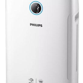 Oczyszczacz powietrza Philips AC2729/50 na białym tle, widok pod kątem 45 st.