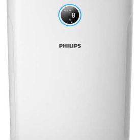 Oczyszczacz powietrza Philips AC2729/50 na białym tle, widok od przodu.