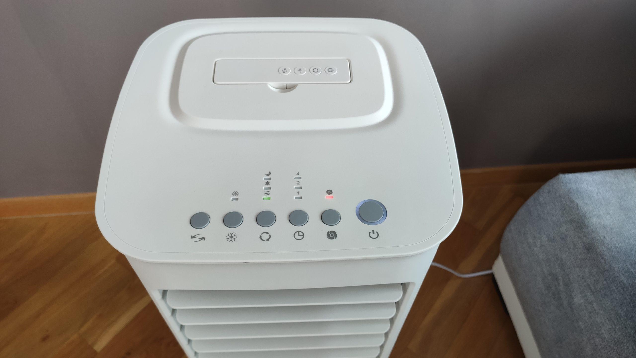 Klimatyzer ewaporacyjny z Castoramy panel sterowania