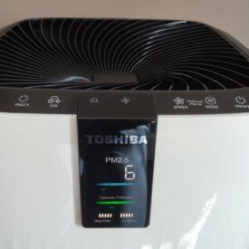 Oczyszczacz powietrza Toshiba CAF X116XPL panel sterowania
