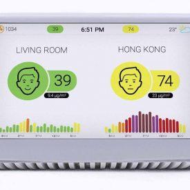 Stacja jakości powietrza z wynikami