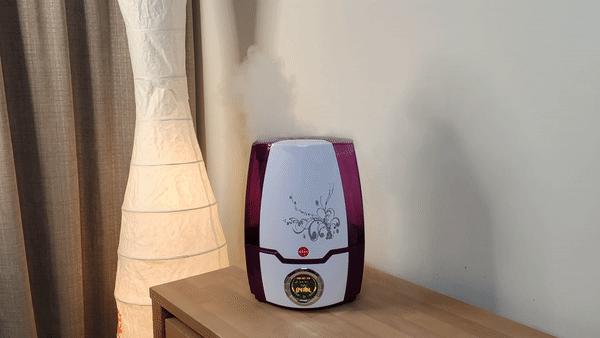 Ultradźwiękowy nawilżacz powietrza Eldom biało fioletowy nawilżacz