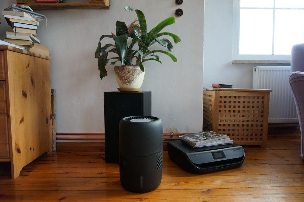 Ewaporacyjny nawilżacz powietrza Klarta Humea WiFi black - czarny