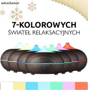 Ultradźwiękowy nawilżacz Ariasana 7 kolorów podświetlenia