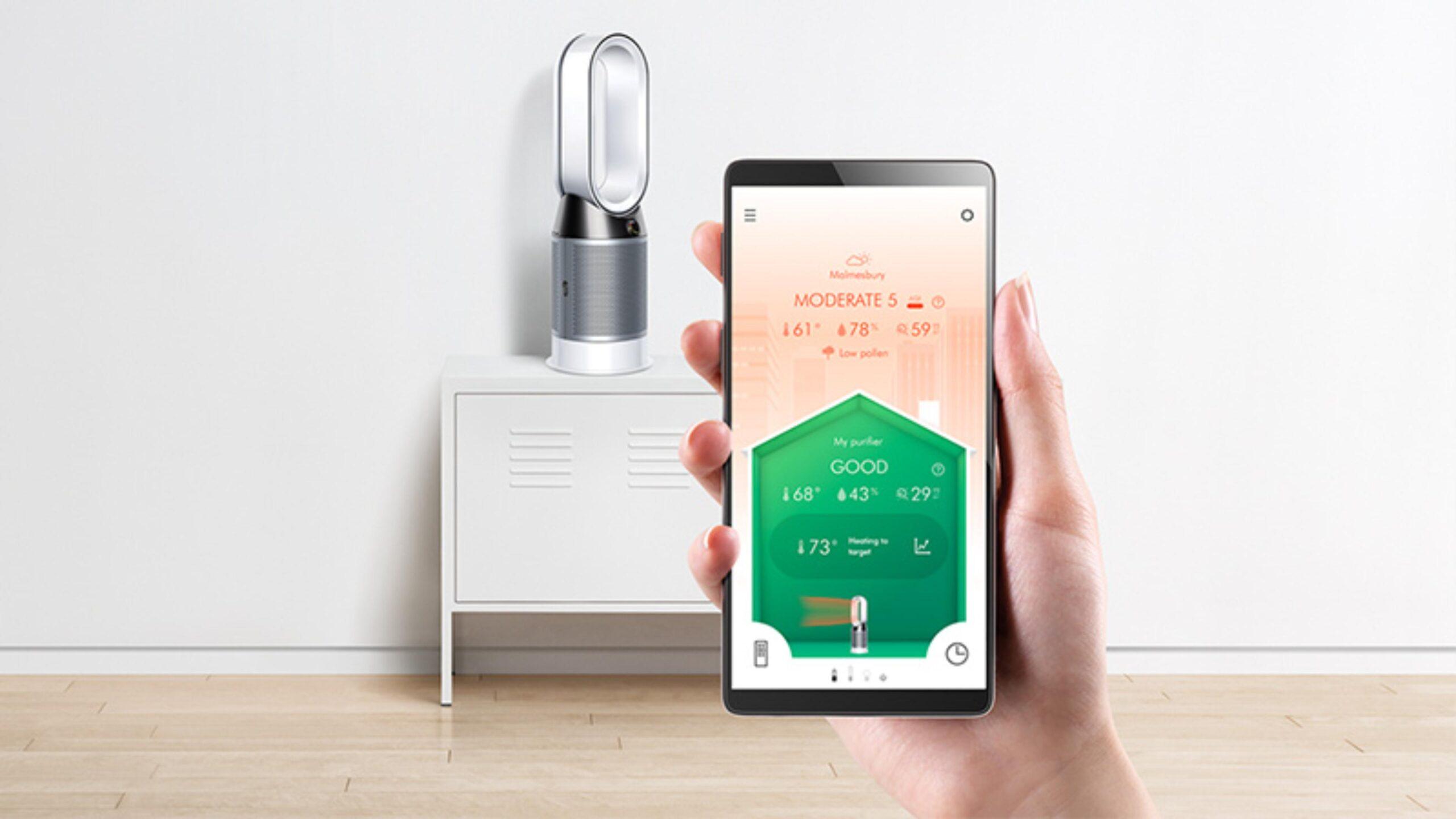 aplikacja mobilna do oczyszczacza Dyson HP04