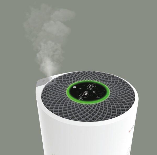 Mgiełka z nawilżacza ultradźwiękowego w oczyszczaczu Hoover H-Purifier 700