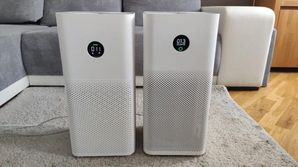 Oczyszczacze powietrza Xiaomi Air Purifier 3C oraz Air Purifier 3H w salonie