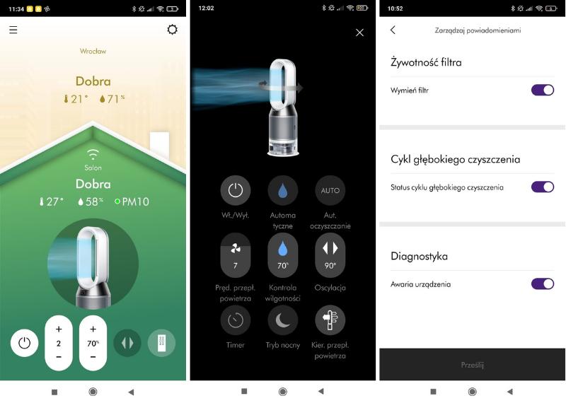 Aplikacja mobilna Dyson Link recenzja