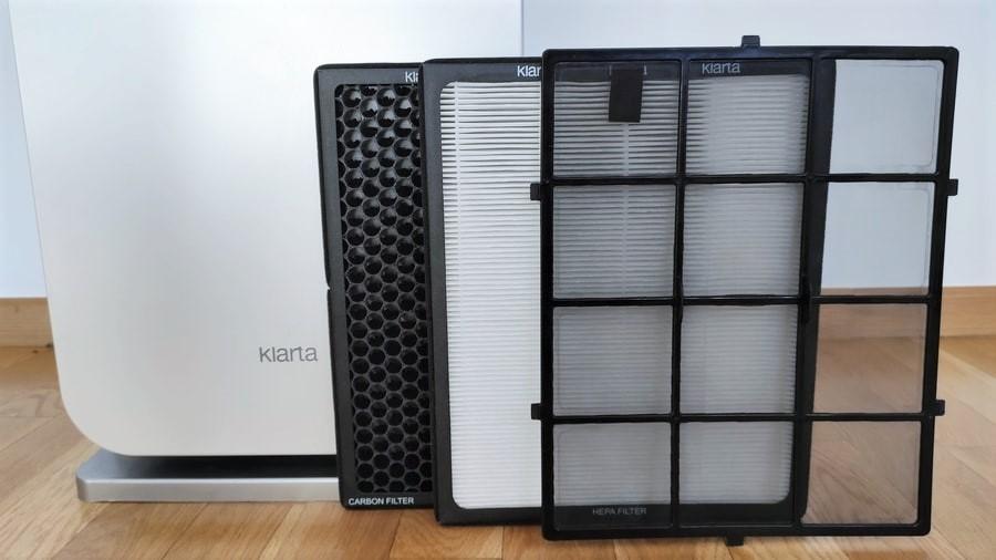 Filtry wstępny, HEPA i węglowy do oczyszczacza powietrza Klarta Forste 3