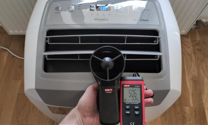 Klimatyzator pokojowy, pomiar przepływu powietrza
