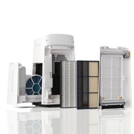 Oczyszczacz powietrza Sharp UA-KIL80E-W z wyciągniętymi filtrami