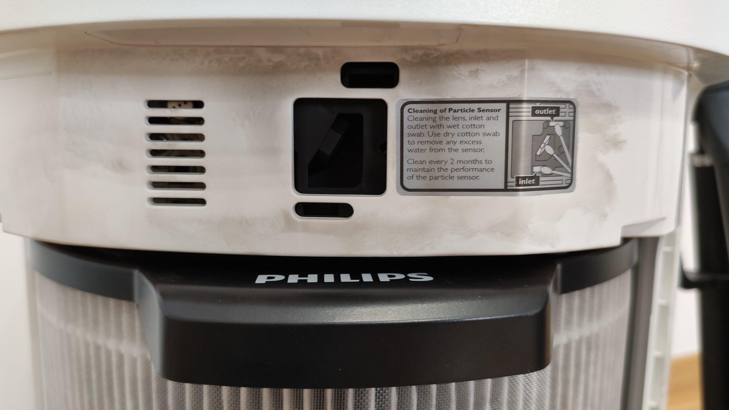 Widok na czujniki oczyszczaczy Philips AC3854 i AC3858