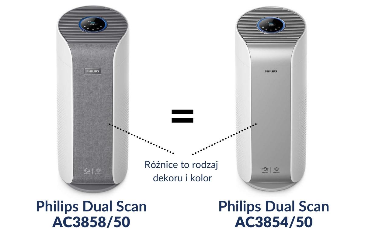 Philips Dual Scan AC3858/50 i Philips Dual Scan AC3854/50 - różnice