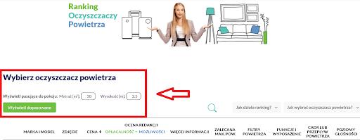 wybierz oczyszczacz powietrza kalkulator ranking-oczyszczaczy.pl