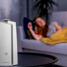 Nawilżacz powietrza Milla Home AH050E w sypialni