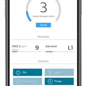 Aplikacja mobilna w oczyszczaczu powietrza Philips AC2959/53