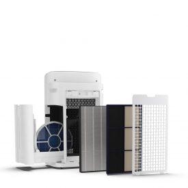oczyszczacz poczyszczacz powietrza Sharp-UA-KIN50E-W, widok panelu sterowanieowietrza Sharp-UA-KIN50E-W z filtrami