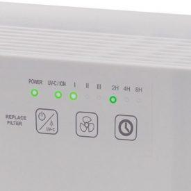 Przyciski i ikony w oczyszczaczu powietrza Webber AP8400