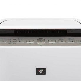 wyświetlacz i panel z przyciskami na oczyszczaczu powietrza Sharp KC-D60euw